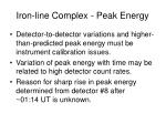 iron line complex peak energy