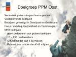 doelgroep ppm oost
