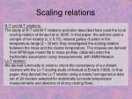 scaling relations