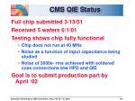 cms qie status