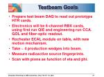 testbeam goals