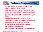 testbeam responsibilities