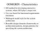 oomgrin characteristics