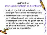 module 4 strategisch handelen en co rdineren