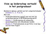 visie op leiderschap vertaald in het postgraduaat1