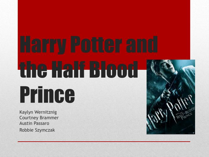 harry potter and the half blood prince n.
