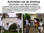 activiteiten van de stichting13