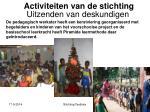 activiteiten van de stichting14