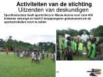 activiteiten van de stichting17