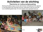 activiteiten van de stichting9