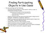 finding participating objects in use cases