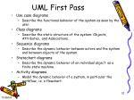 uml first pass