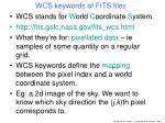 wcs keywords of fits files