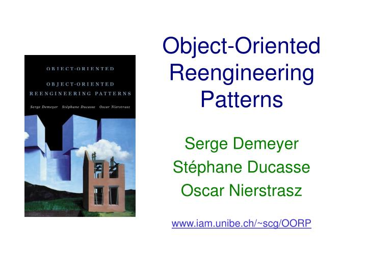 object oriented reengineering patterns n.