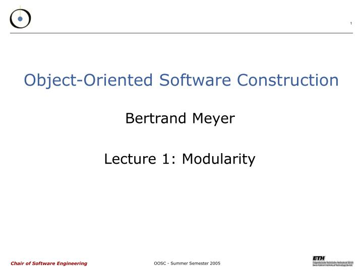 object oriented software construction n.