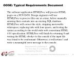oose typical requirements document