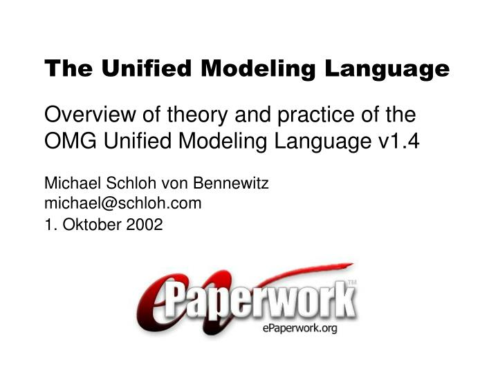 the unified modeling language n.