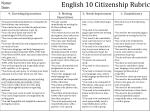 english 10 citizenship rubric