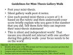 guidelines for mini thesis gallery walk