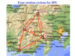 four station system for ips