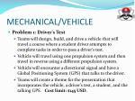 mechanical vehicle