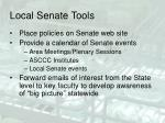 local senate tools