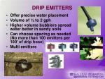 drip emitters