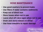 hose maintenance