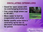 oscillating sprinklers