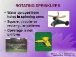 rotating sprinklers