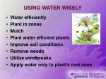 using water wisely