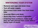 winterizing your system