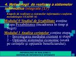 4 metodologii de realizare a sistemelor informatice integrate 17