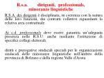 r s a dirigenti professionals minoranze linguistiche
