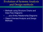evolution of systems analysis and design methods