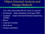 object oriented analysis and design methods