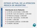 estado actual de la atencion medica en argentina