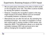 experiments bootstrap analysis of oov impact