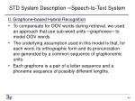 std system description speech to text system1