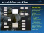 aircraft software at lm aero
