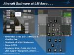 aircraft software at lm aero1