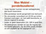 max mobiel pendelbusdienst1