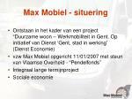 max mobiel situering