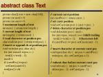 abstract class text