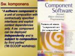 sw komponens