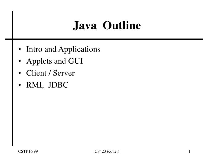 java outline n.