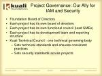 project governance our ally for iam and security