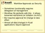 workflow approvals as security