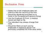 declination form