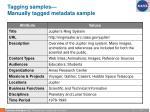 tagging samples manually tagged metadata sample